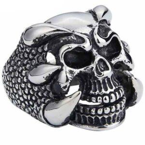 Dragon Ring Skull Joker Steel