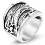 Dragon Ring Stainless Steel Lizard