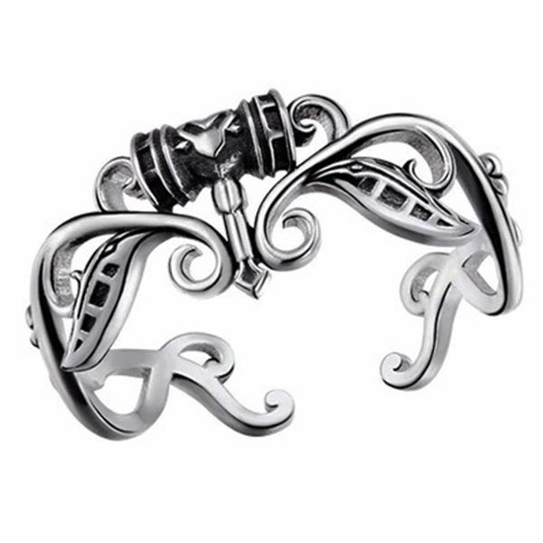 Dragon Ring Divine Hammer Sterling Silver