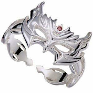 Dragon Ring Venetian Mask Sterling Silver