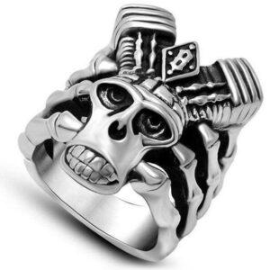Dragon Ring Man Biker Steel