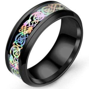 Dragon Ring Multicolor 316L