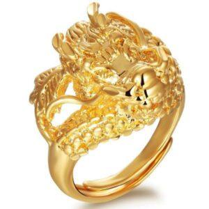 Dragon Ring Golden Signet
