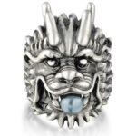 Dragon Ring Pearl Zing Alloy