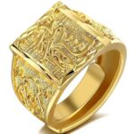 Dragon Ring Chinese Symbol Gold Plated