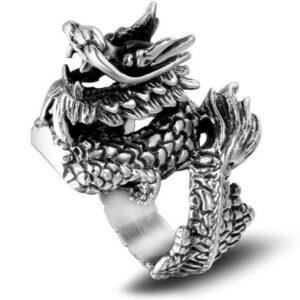 Dragon Ring Tibetan Steel