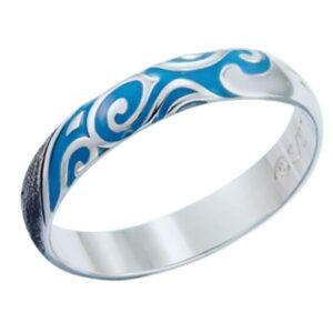 Dragon Ring Blue Wave Sterling Silver