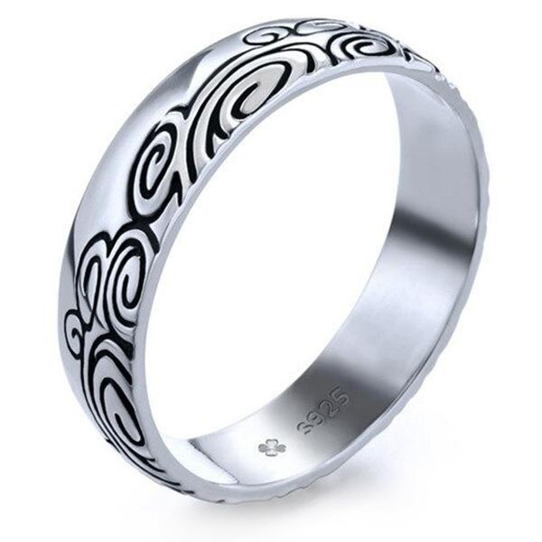 Dragon Ring Japanese Wave Sterling Silver