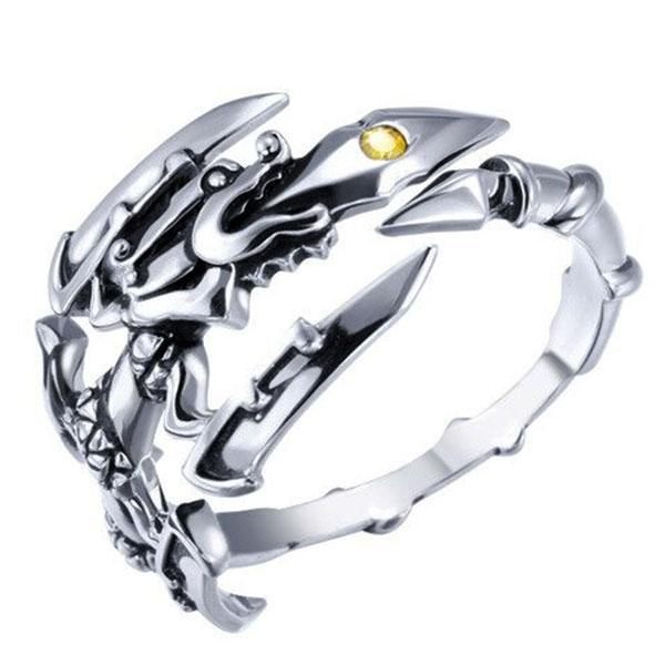 Dragon Ring Royal Claw Sterling Silver