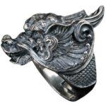 Dragon Ring Samurai Silver
