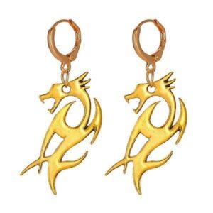 Dragon Earrings Tribal Style 6gr
