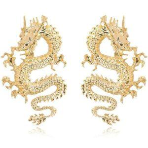 Dragon Earrings Chinese Pendant Jewel