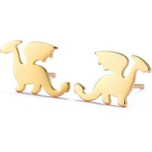 Dragon Earrings Minimalist Stainless Steel