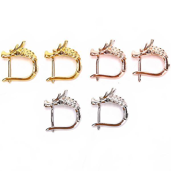 Dragon Earrings Half Creole Zinc