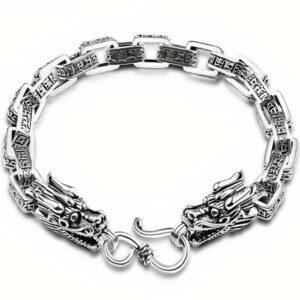 Dragon Bracelet Double Headed Beast Sterling Silver
