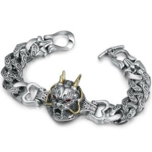 Dragon Bracelet With Head Sterling Silver