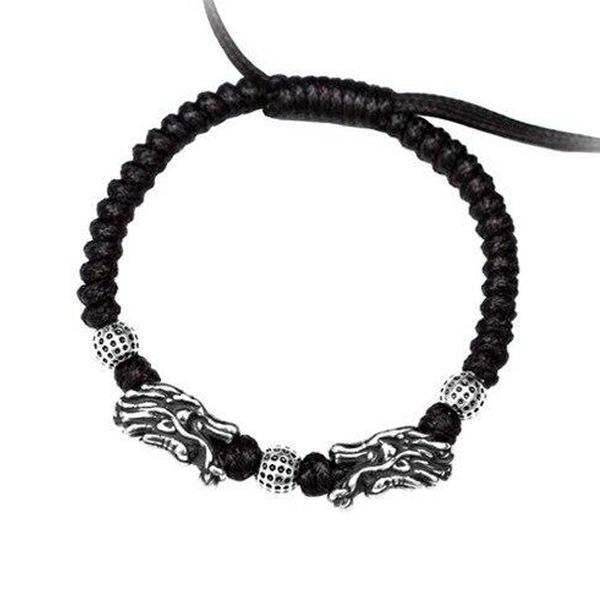 Dragon Bracelet Luck 999 Silver