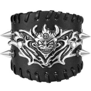 Dragon Bracelet Punk Leather Zinc 55gr