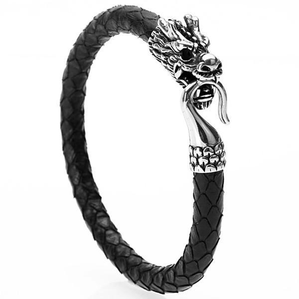 Dragon Bracelet Simple Leather Steel