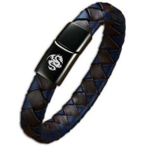 Dragon Bracelet Real Leather For Men
