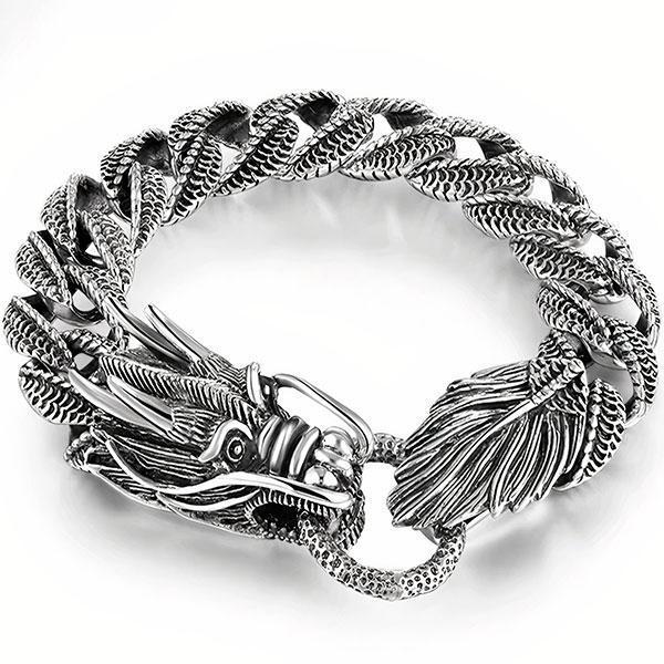 Dragon Bracelet Silver 56gr Sterling Silver