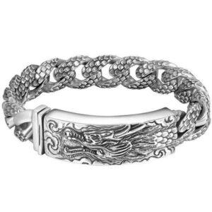 Dragon Bracelet Silver Sterling 925