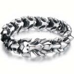 Dragon Bracelet Alpha Male Silver Sterling