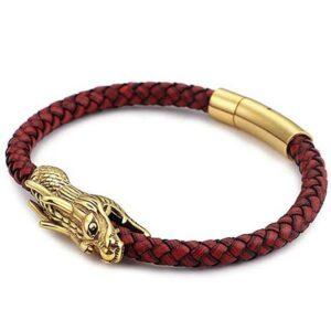 Dragon Bracelet Ouroboros Leather