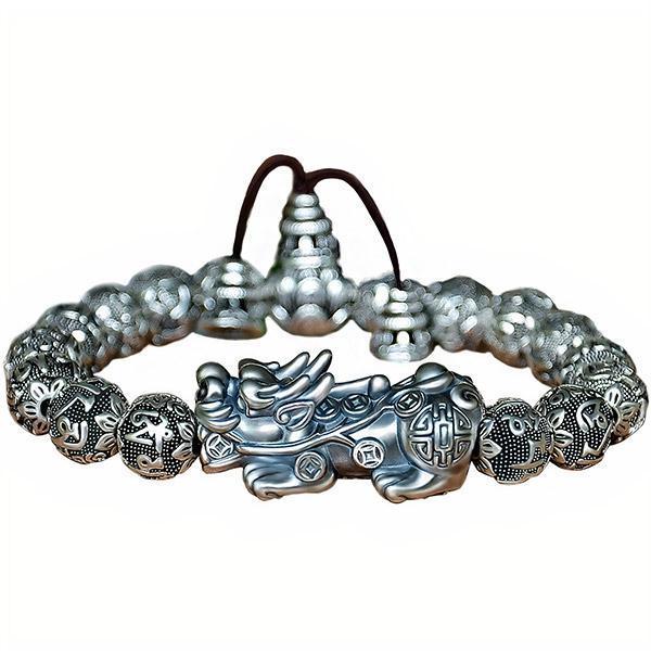 Dragon Bracelet Silver Pixiu Copper Zinc