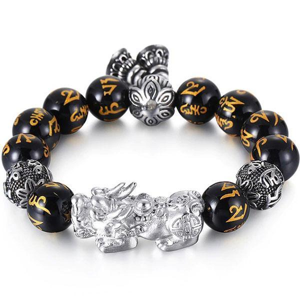 Dragon Bracelet Feng Shui Pixiu Steel