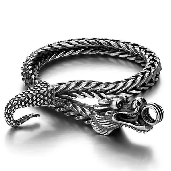 Dragon Bracelet Unique Silver Sterling