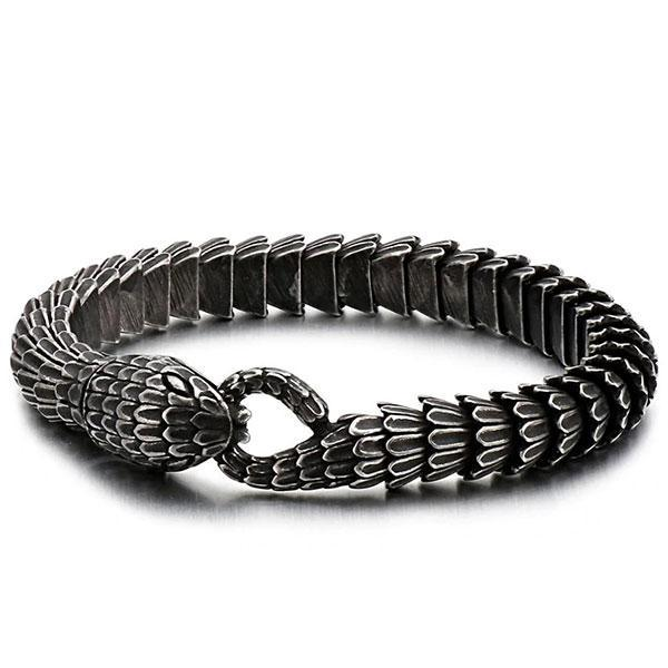 Dragon Bracelet Snake Shaped Steel