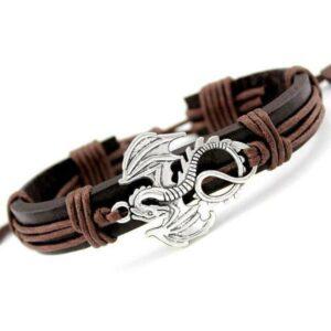 Dragon Bracelet Cute Leather Zinc Alloy