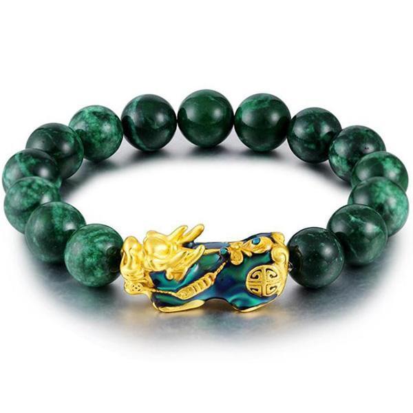 Dragon Bracelet Green Pearl Onyx