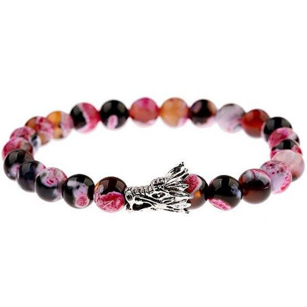 Dragon Bracelet Colored Beads Zinc