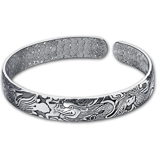Legendary Phoenix Dragon Bracelet Silver Sterling
