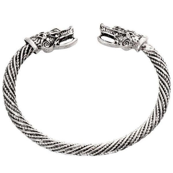Dragon Bracelet Celtic Torch (Steel)