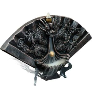 Dragon Incense Burner Fan Handmade Ceramic