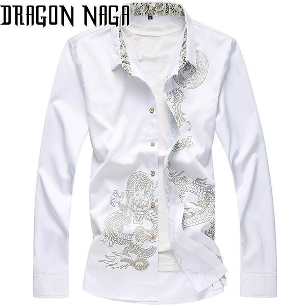 Chemise avec motif dragon