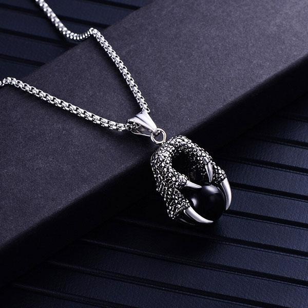 Steel Dragon Necklace Classic