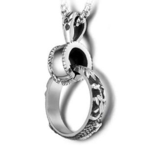 Dragon Necklace Ring of Steel
