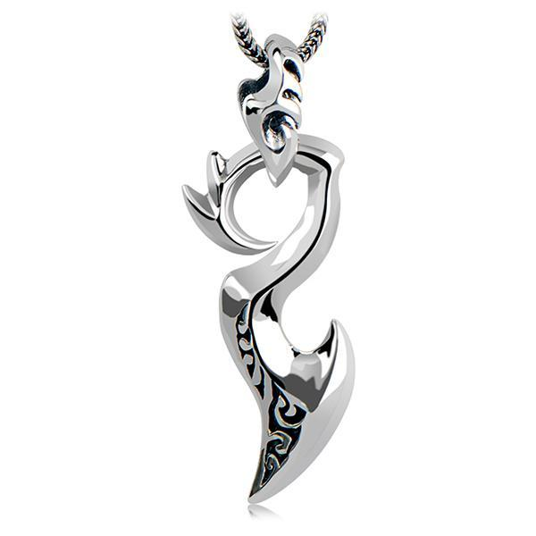 Dragon Necklace Silver Dagger 925