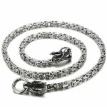 Dragon Necklace Two Brothers Stainless Steel
