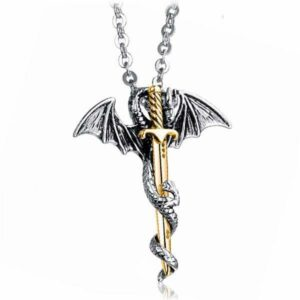 Dragon Necklace Claymore Stainless Steel