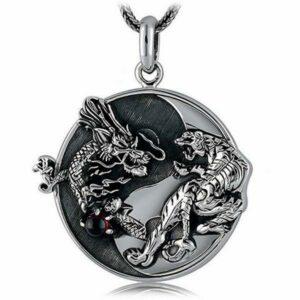 Dragon Necklace Silver Tiger 925