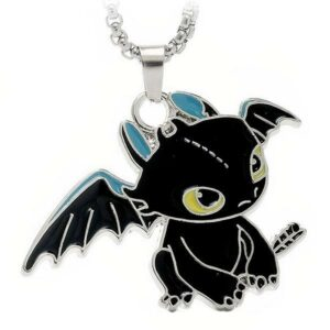 Dragon Necklace Toothless Stainless Steel