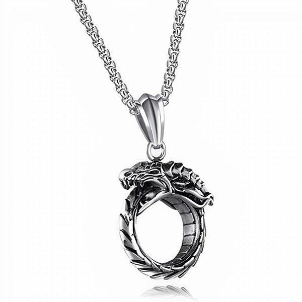 Collier Dragon Ouroboros