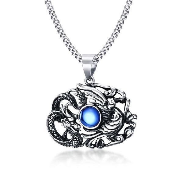 Phoenix Dragon Steel Necklace