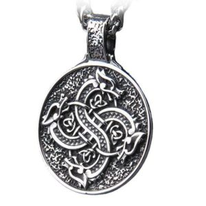 Dragon Necklace Viking Symbol Steel