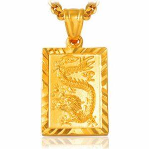 Dragon Necklace Golden Talisman